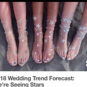 Free people sparkle star socks